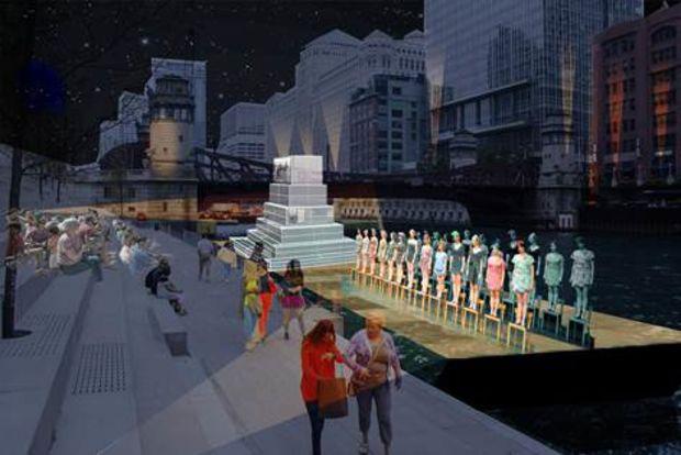 | 今天开幕,芝加哥河畔今夏最IN打开方式:移动艺术馆